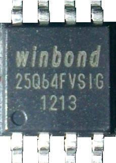 Чип W25Q64 W25Q64FVSSIG SOP8, 64Мб Flash SPI, фото 2