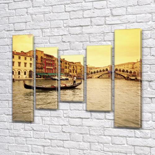 Картина  модульная Венецианский гондольер  на холсте  (80x18-2/55х18-2/40x18)