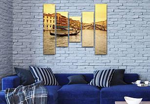 Картина  модульная Венецианский гондольер  на холсте  (80x18-2/55х18-2/40x18), фото 3