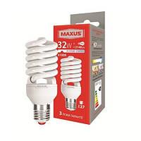 Лампа энергосберегающая MAXUS XPiral 32w 4100k (нейтральный свет) Е27  1-ESL-020-11