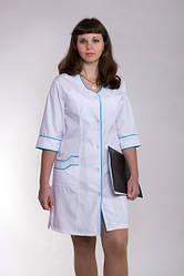 Жіночий медичний халат білий 40-66