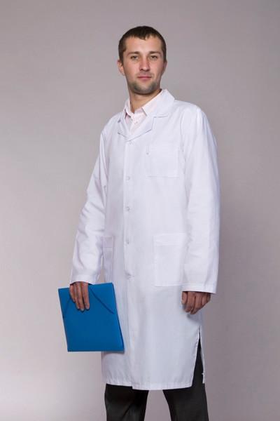 Чоловічий медичний халат білий