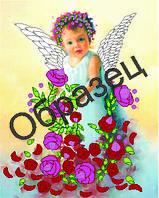 Схема для вышивки лентами «Ангел в цветах»