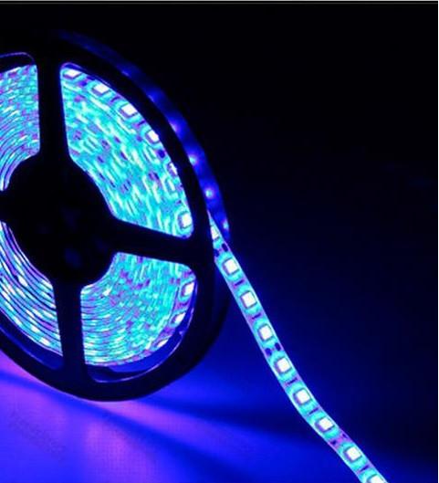 5м лента светодиодная, 300x 5050 SMD LED, синяя