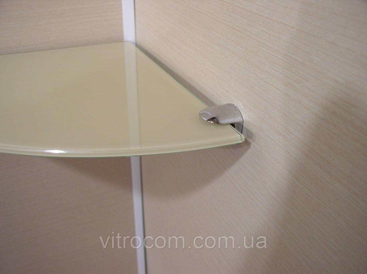 Полка стеклянная угловая 5 мм бежевая 25 х 25 см