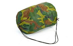 Спальный мешок одеяло с капюшоном камуфляж SY-4051, фото 3