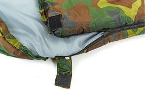 Спальный мешок одеяло с капюшоном камуфляж SY-4051, фото 2
