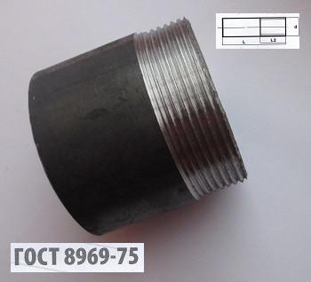 Резьба стальная 20 мм ГОСТ 8969-75