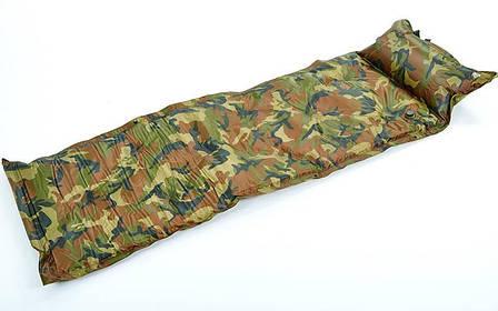 Коврик для кемпинга (матрас) самонадувающийся с подушкой SY-116, фото 2