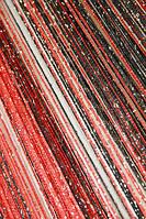 Шторы нити Радуга Дождь 9+17 (черный + красный) , фото 1