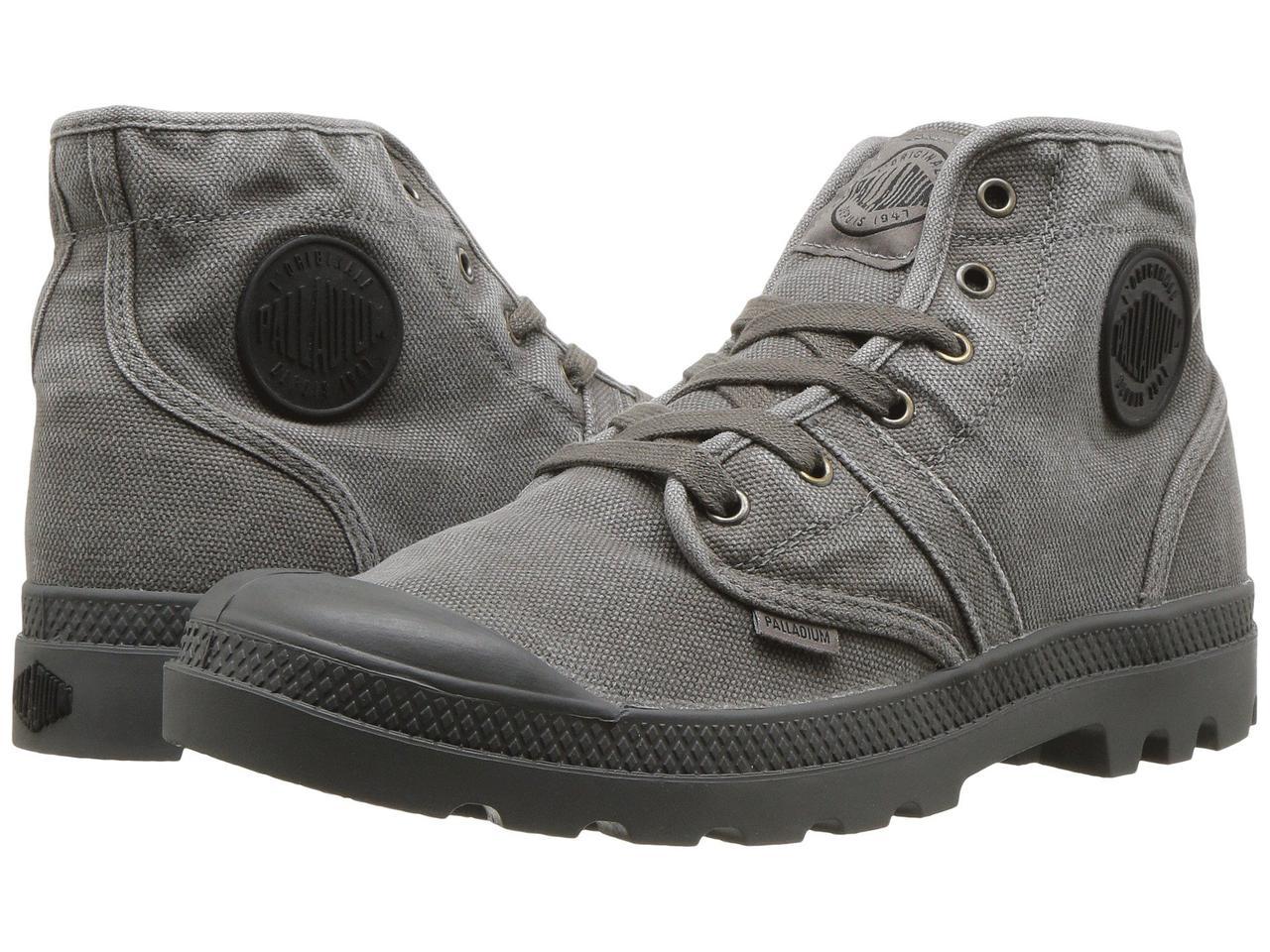 Ботинки Сапоги (Оригинал) Palladium Pallabrouse Metal Black  продажа ... 30954ecebcb7a
