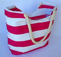 Летняя текстильная сумка для пляжа и прогулок в морском стиле