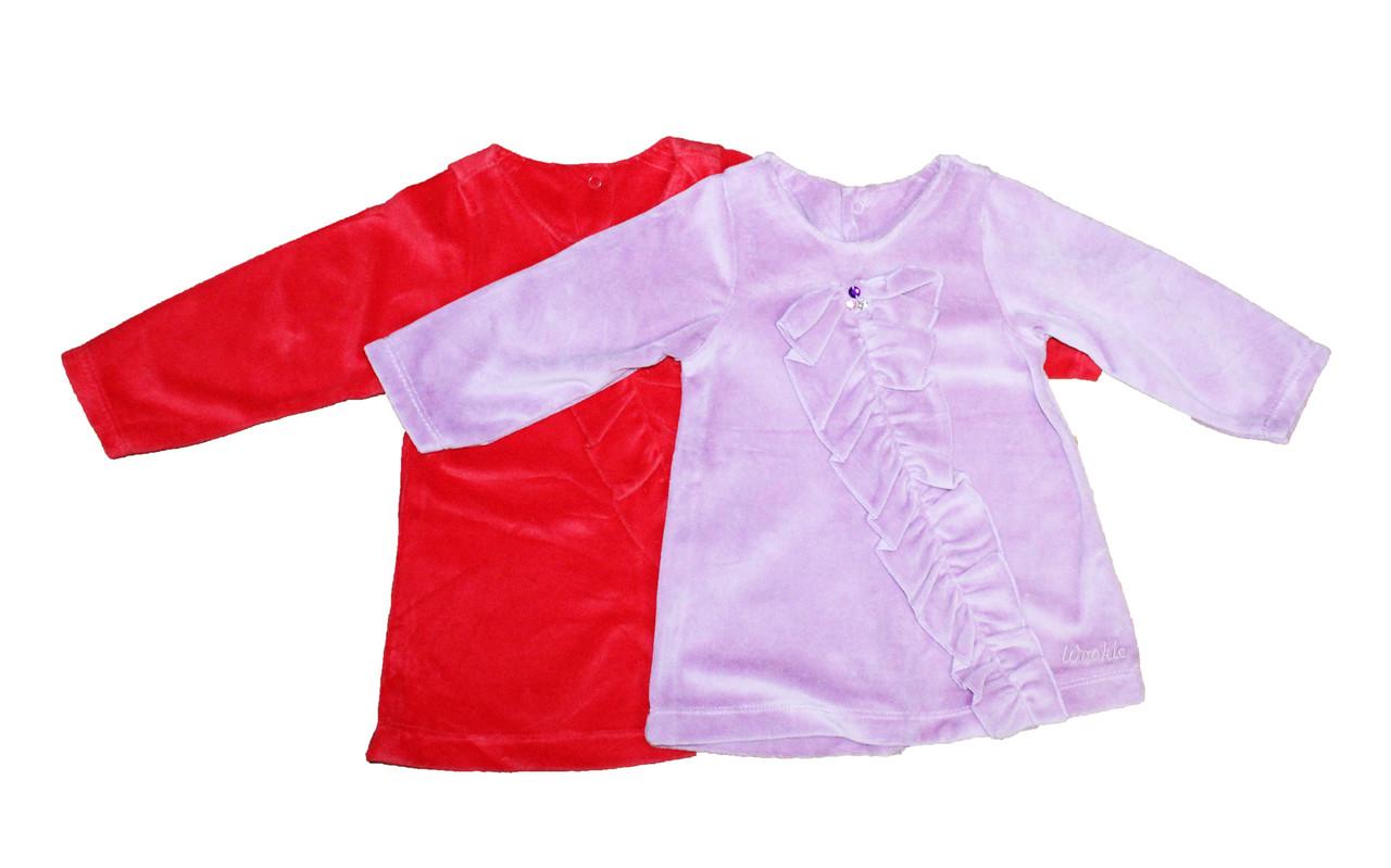 Платье детское велюровое для девочки. 004