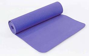 Коврик для фитнеса и йоги TPE+TC 8мм FI-6336 (1,83м x 0,61м x 8мм), фото 2