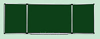 Доска магнитная меловая с 5 рабочими поверхностями (120х400)