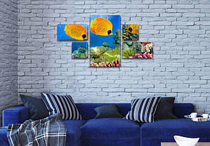 Купить модульную картину на Холсте син., 60x110 см, (18x35-2/18х18-2/60x35), фото 3