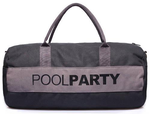Спортивная повседневная сумка POOLPARTY poolparty-gymbag-black-grey