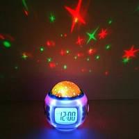 Звездный проектор настольные часы