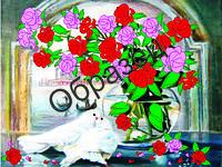 Схема для вышивки лентами «Красивая любовь»