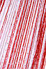 Кисея радуга дождь 1+17 (белый, красный)