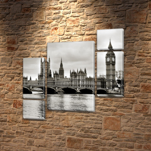 Модульные картины фото на Холсте син., 85x85 см, (40x20-2/18х20-2/65x40)