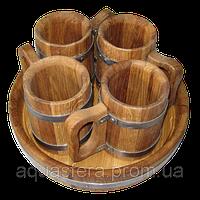 Набор пивной 4 кружки (БонПос)