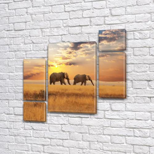 Картины триптих на холсте купить дешево, на Холсте син., 85x85 см, (40x20-2/18х20-2/65x40)