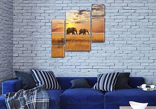 Картины триптих на холсте купить дешево, на Холсте син., 85x85 см, (40x20-2/18х20-2/65x40), фото 2
