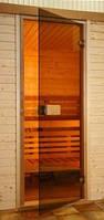 Двери для саун Saunax 700х1900 мм бронза прозрачная, дверь для бань