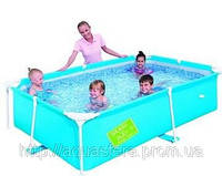Детский каркасный прямоугольный детский бассейн 56220, BestWay, (239х150х58см.)