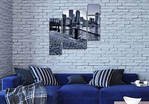 Картины для спальни на холсте фото, на Холсте син., 85x85 см, (40x20-2/18х20-2/65x40), фото 3