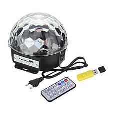 Лазерный проектор, диско шар, цветомузыка с динамиком USB/SD пультом