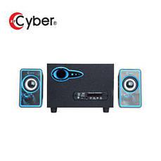USB колонки для ПК компьютерные колонки 2.1 MP3 Bluetooth Cyber AN-2533 Blue