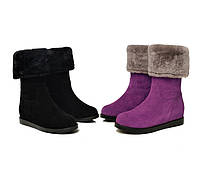 Супер теплые замшевые ботинки на овчине 2 цвета, фото 1