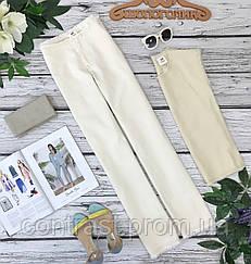 Трендовые джинсы-клеш из легкой саржи с декоративной бахромой 6/34/XXS 8/36/XS    PN1830130