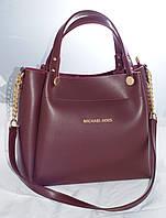 Женская сумкаMісhаеl Коrs (в стиле Майкл Корс), бордовая ( код: IBG088RK )