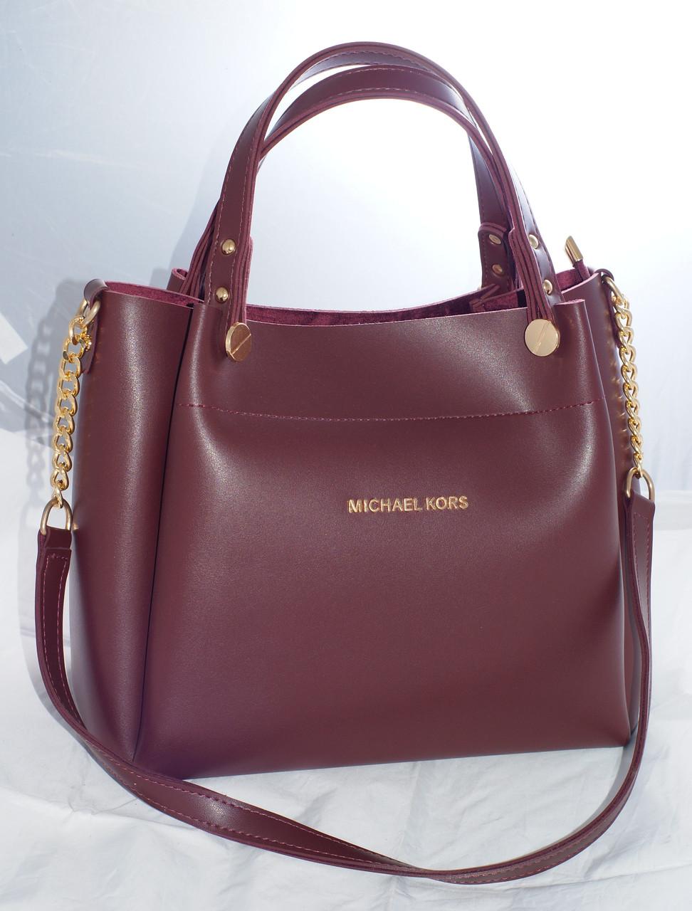135b39eb3a99 Женская сумка Michael Kors (Майкл Корс), бордовая - Интернет-магазин