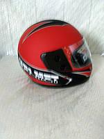 Шлем для скутера красно-черный матовый F2 Helmet, размер М(57-58)