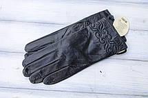 Перчатки кожаные женские СРЕДНИЕ, фото 3