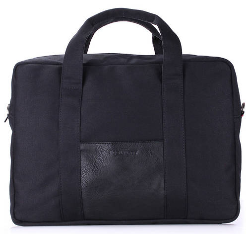 Функциональная молодежная сумка-портфель POOLPARTY COLLEGE BAG Арт. poolparty-college-black черная