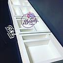Макияжный столик с большим количеством секций, гримерный стол с навесным зеркалом, фото 3