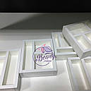 Макияжный столик с большим количеством секций, гримерный стол с навесным зеркалом, фото 5