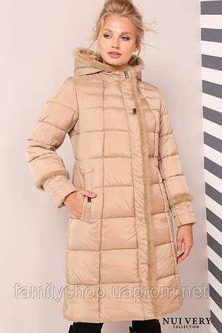 Зимнее  пальто большого размера с норкой, фото 2