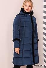 Зимнее  пальто большого размера с норкой, фото 3