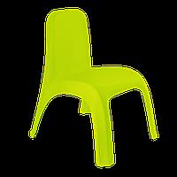 Стілець дитячий пластиковий оливкового кольору