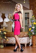 Женское трикотажные платье с декоративными плечами и поясом (0723-0724-0725 svt), фото 3