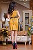 Женское трикотажные платье с декоративными плечами и поясом (0723-0724-0725 svt), фото 6
