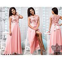 Длинные платья макси шифоновое Ульяна 528