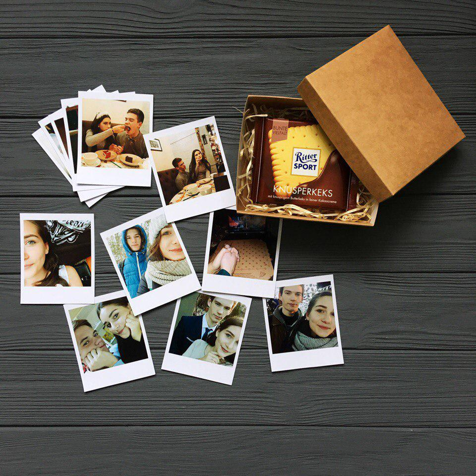 Печать фото в стиле Полароид, Polaroid 12 шт.