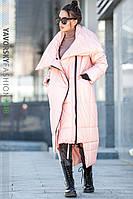 Зимнее женское пальто Клайд (розовое), фото 1